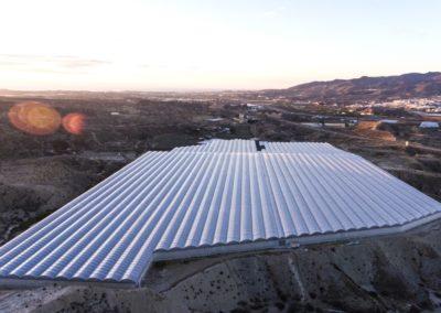 panoramica aerea invernadero
